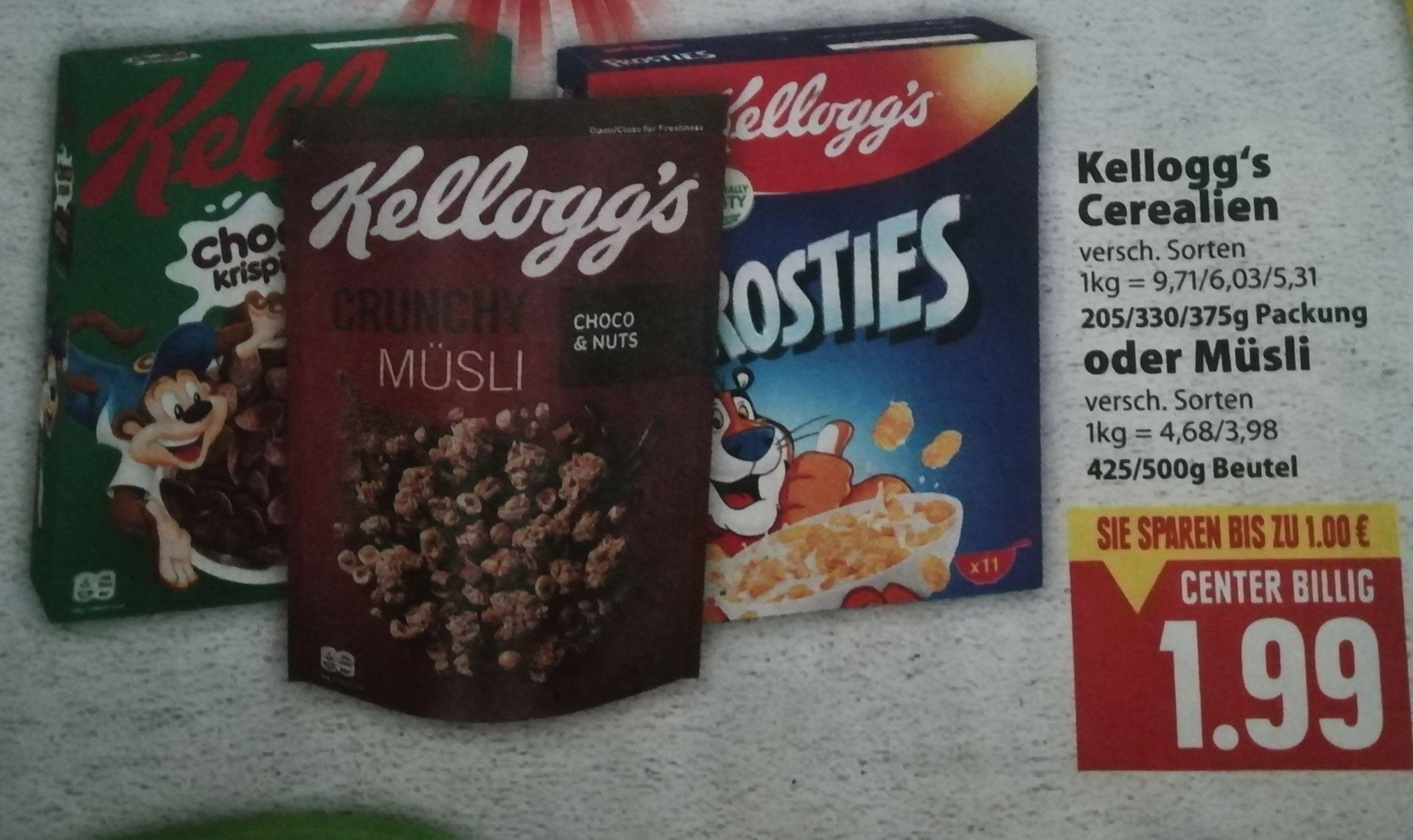 [Edeka Center Minden-Hannover] Kelloggs Choco Krispies für 0,99€ oder 2x Kelloggs mit Coupies Cashback effektiv für 1,48€