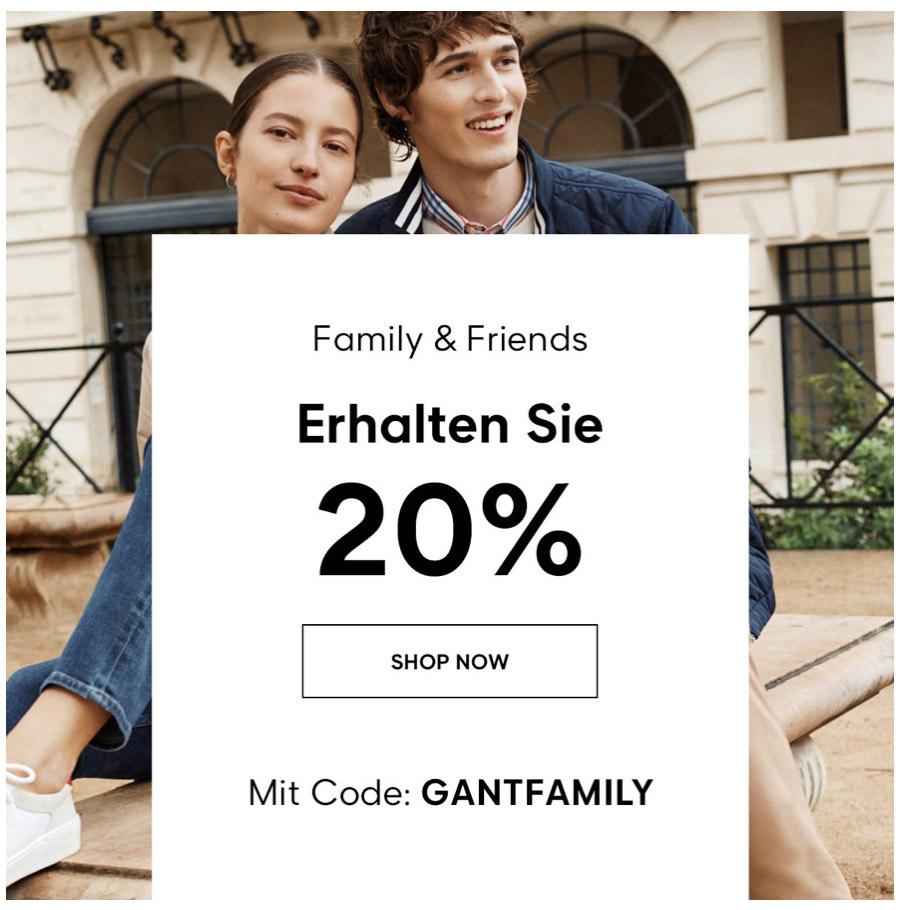 Gant Family & Friends | 20% auf die aktuellen Kollektion