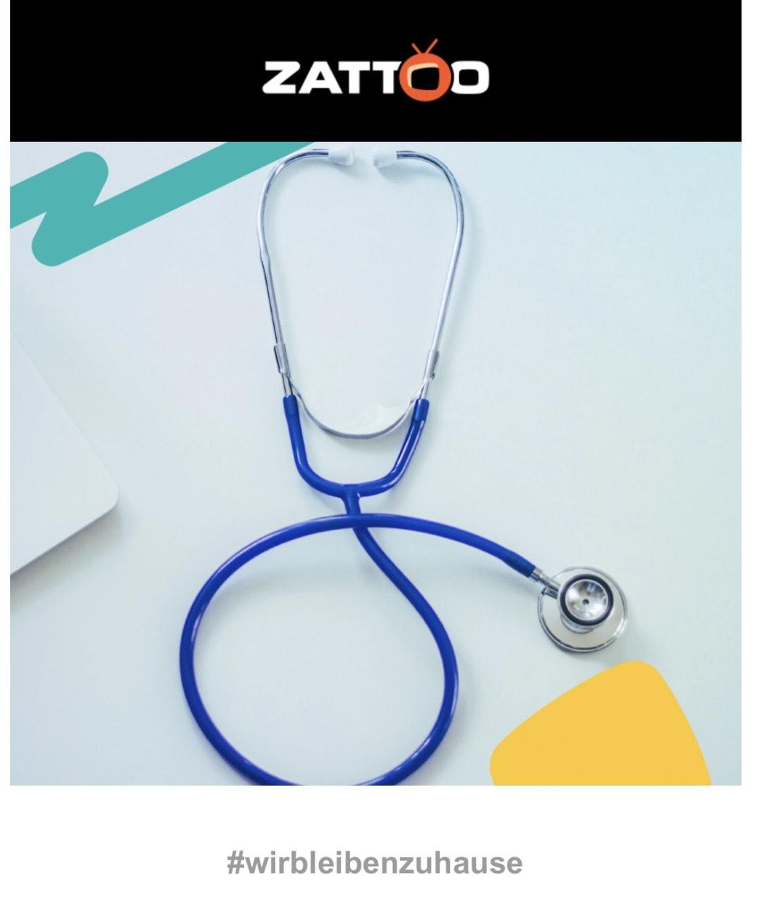 2 Monate Zattoo Ultimate für medizinische Mitarbeiter
