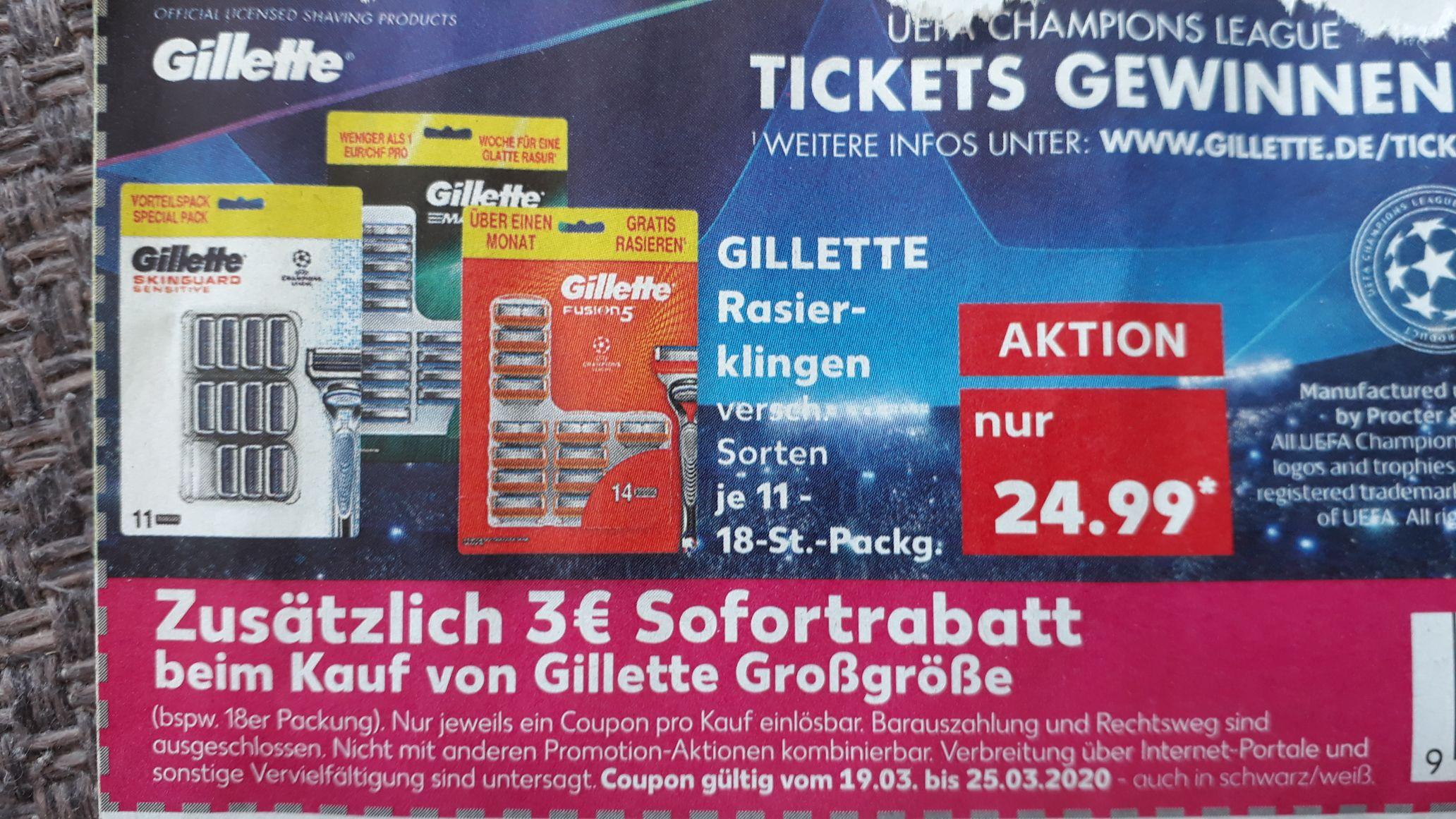 [Lokal Kaufland] Gillette Fusion 5 klingen 14 Stk.