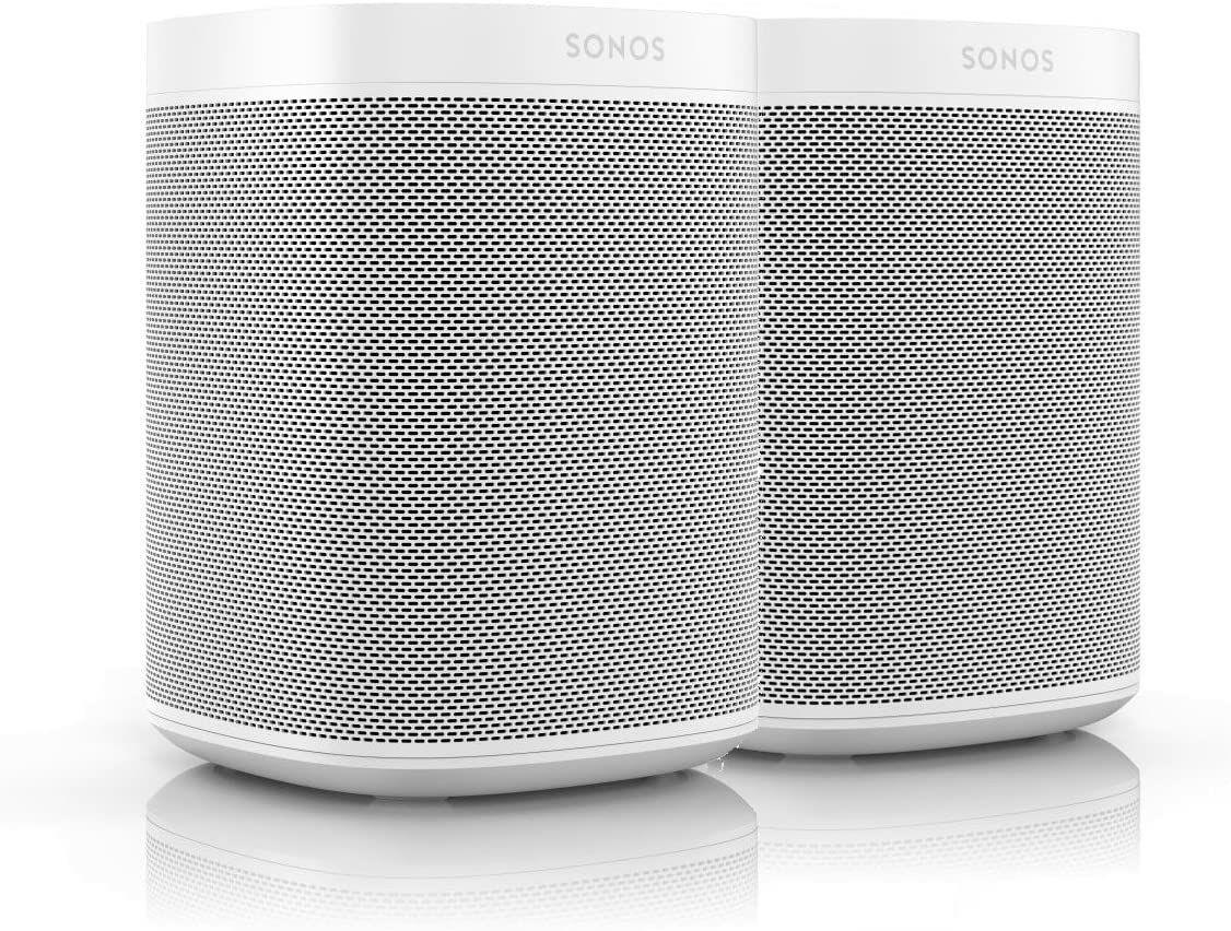 2× Sonos One (2. Gen) Multiroom-Lautsprecher - White (Amazon UK)