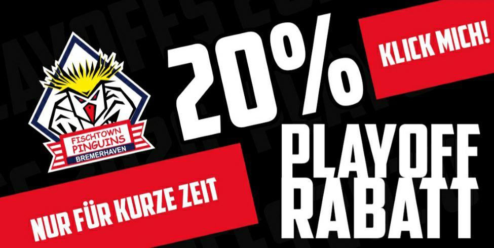 20% Rabatt auf alles bei den Fischtown Pinguins / Eishockey / DEL