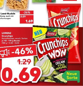 [Regional Kaufland Leer ab 26.03] Lorenz Crunchips versch. Sorten 110g - 175g Beutel für je nur 0,69€