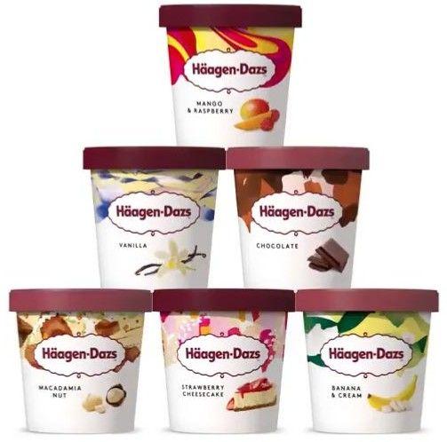 Häagen-Dazs Eiscreme verschiedene Sorten im Angebot