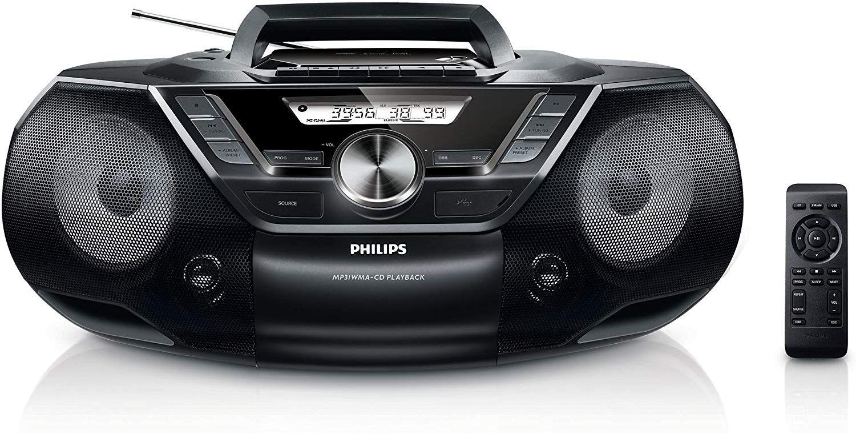 Philips AZ787 CD-Soundmachine (mit Kassette, Digital UKW, USB Direct, Sleep-Timer, 12 Watt) schwarz [Amazon]