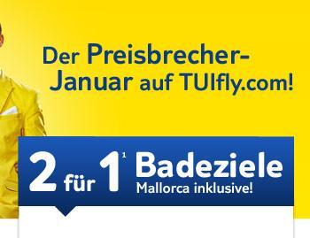 TUI Flüge 2 für 1 bei Tuifly.com