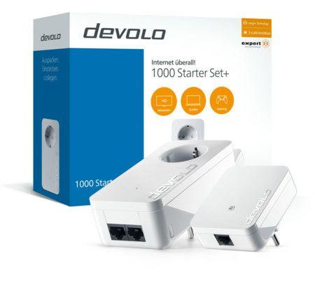 [Expert] DEVOLO 1000 Starter Set+ Kombi aus 1000+ und 1000mini Powerline (range+ Technology, 3x LAN-Anschlüsse)