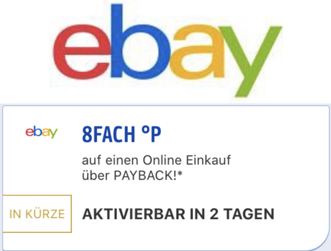 8-fach Payback Punkte bei ebay - selten!