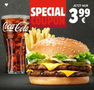 Big King + mittlere King Pommes + 0,4L Getränk (Burger King)