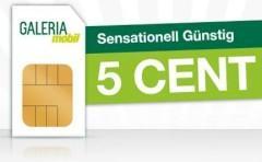 5 CENT in alle Netze mit Galeria Mobil Prepaid inkl 5€ Startguthaben +25€ bei Rufnummermitnahme