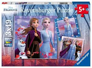 Ravensburger - Frozen 2: Die Reise beginnt 3x 49 Teile Puzzle für 5,89€ (Amazon Prime & Thalia Club)