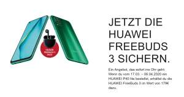 Huawei P40 lite Dual-SIM 128GB in Crush Green dazu FreeBuds 3 kostenlos