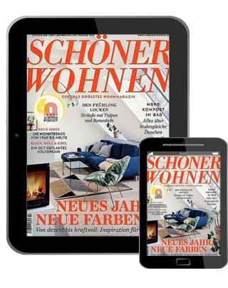 Schöner Wohnen Abo (12 digital Ausgaben) für 44,08 € mit einem 45 € BestChoice-Gutschein/ 40 € BC inkl. Amazon (Kein Werber nötig)