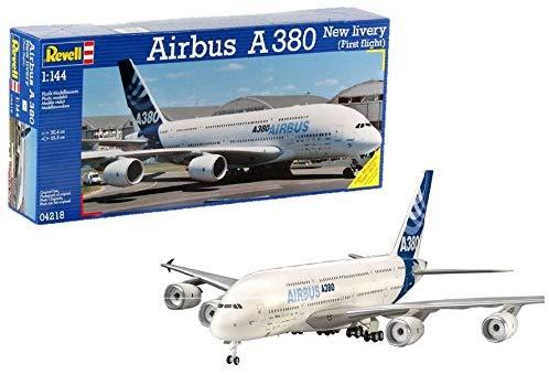 "Revell Modellbausatz Flugzeug - Airbus A380 Design New livery ""First Flight"" im Maßstab 1:144 Skill-Level: 5 für 17,43€ (Amazon Prime)"