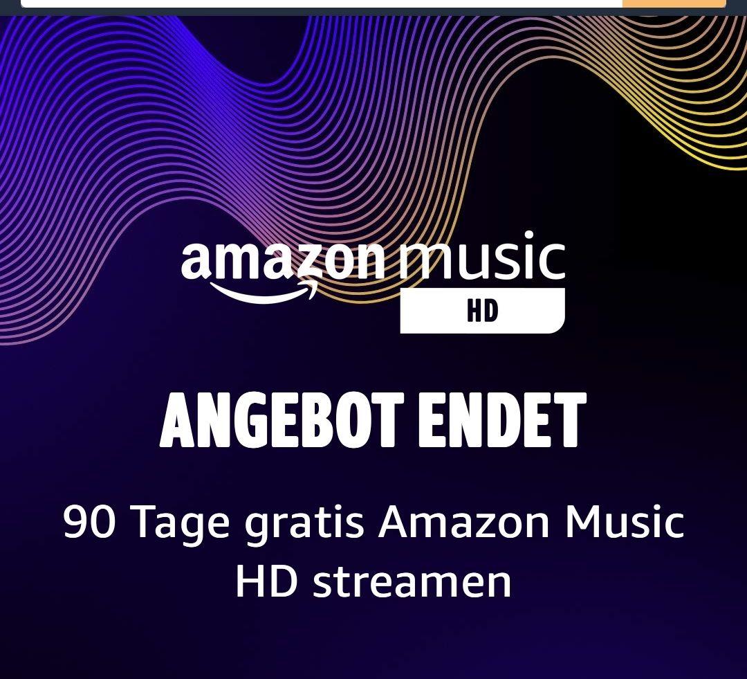 AMAZON Music Unlimited - 90 Tage für 9 €