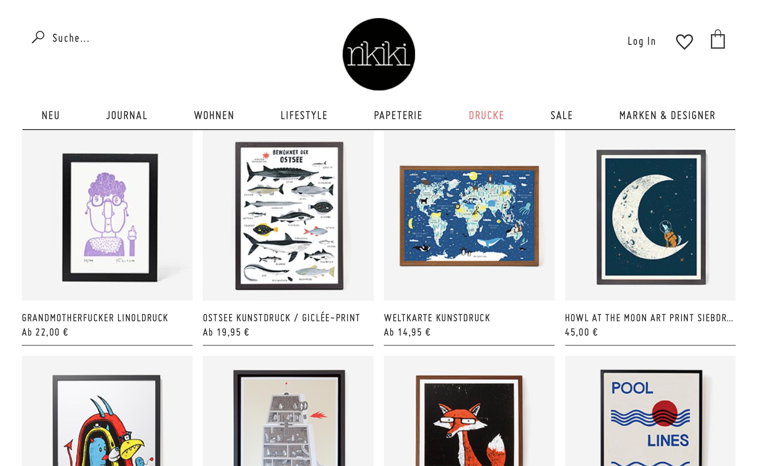 rikiki Grafik & Design - hochwertige Drucke und Accessoires - 10% Rabatt