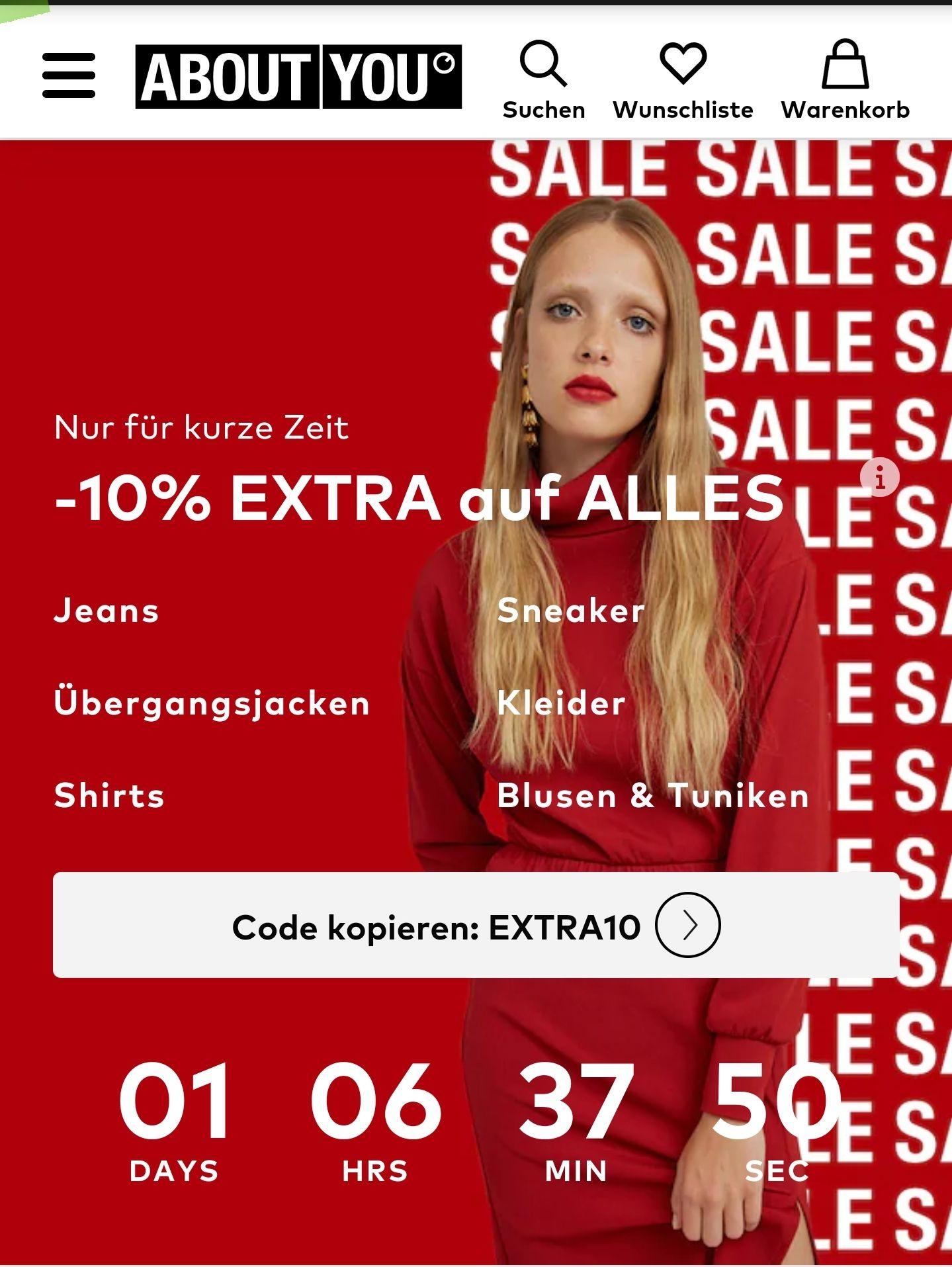 AboutYou -10% auf Alles* MBW 75,00€