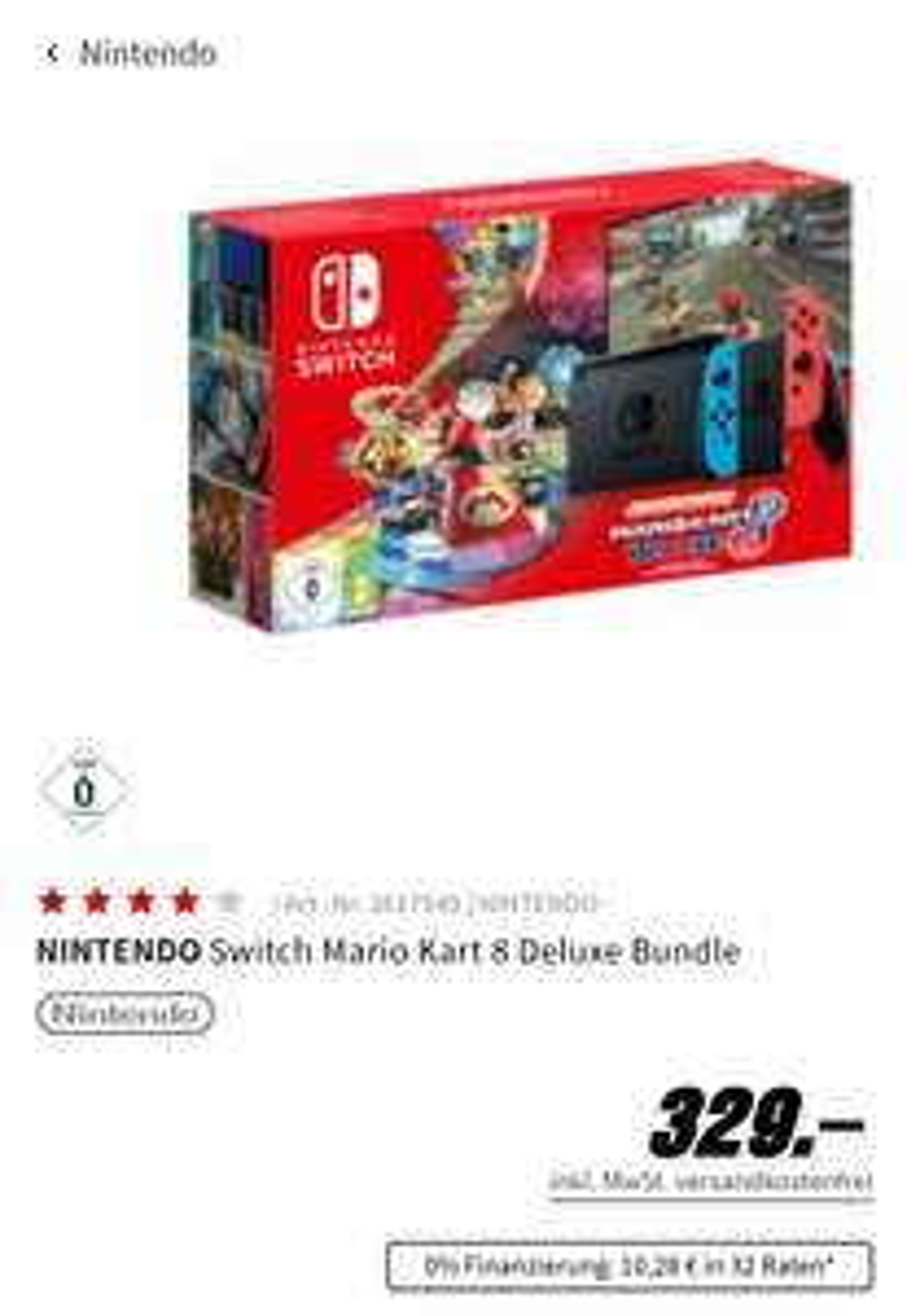 NINTENDOSwitch Mario Kart 8 Deluxe Bundle