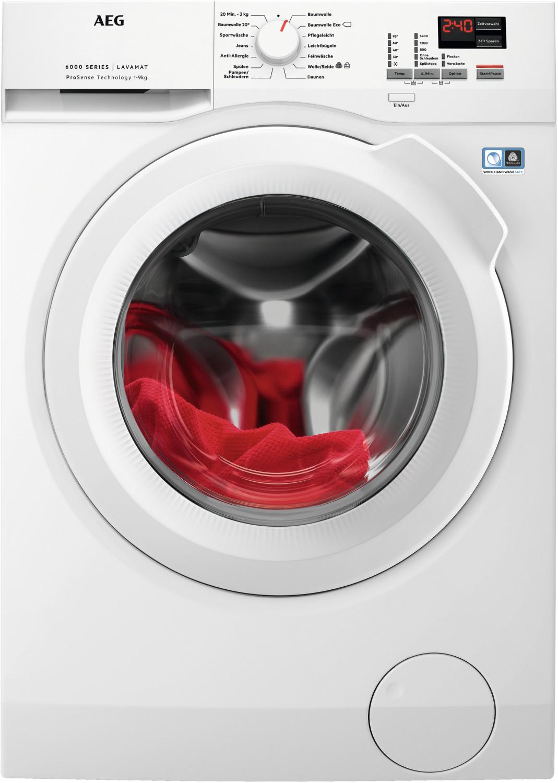 Waschmaschine AEG Lavamat L6FBA494 (A+++ -20%, 9kg, 1400U/min, Mengenautomatik, AquaControl, Schontrommel, XXL-Tür, Inverter-Motor)
