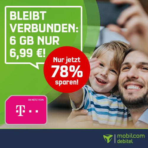 Telekom (MD) Tarif mit 6GB LTE und Allnet-Flat für 6,99€ / Monat !Jetzt auch Rufnummern-Mitnahme! [Telekom-Netz, 24-Monatsvertrag]