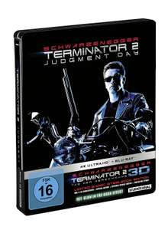 Terminator 2 Limited Steelbook [4K / 3D / 2D Blu-Ray] für 19,99 inkl Versand / Media Markt