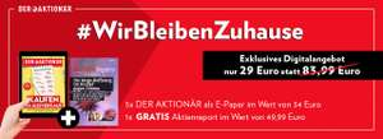 5x DER AKTIONÄR ePaper + AktienReports für 29€