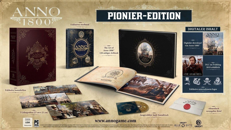 ANNO 1800 COLLECTOR PIONEER EDITION - PC [Saturn & Mediamarkt]