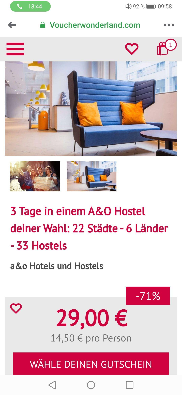 3 Tage in einem A&O Hostel deiner Wahl: 22 Städte - 6 Länder - 33 Hostels
