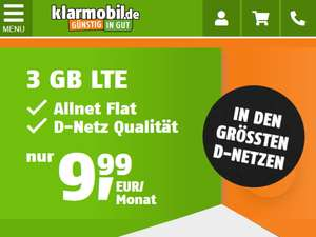 Telekom Netz: Allnet-Flat mit 3GB LTE für 9,99€