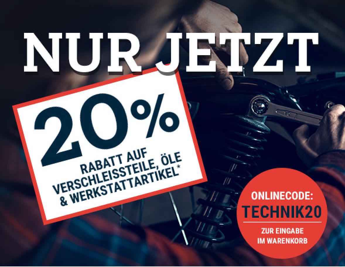 Polo Motorrad : 20% Rabatt auf Verschleissteile, Öle, Werkzeug / 5 Liter 10W-40 für 15,99€