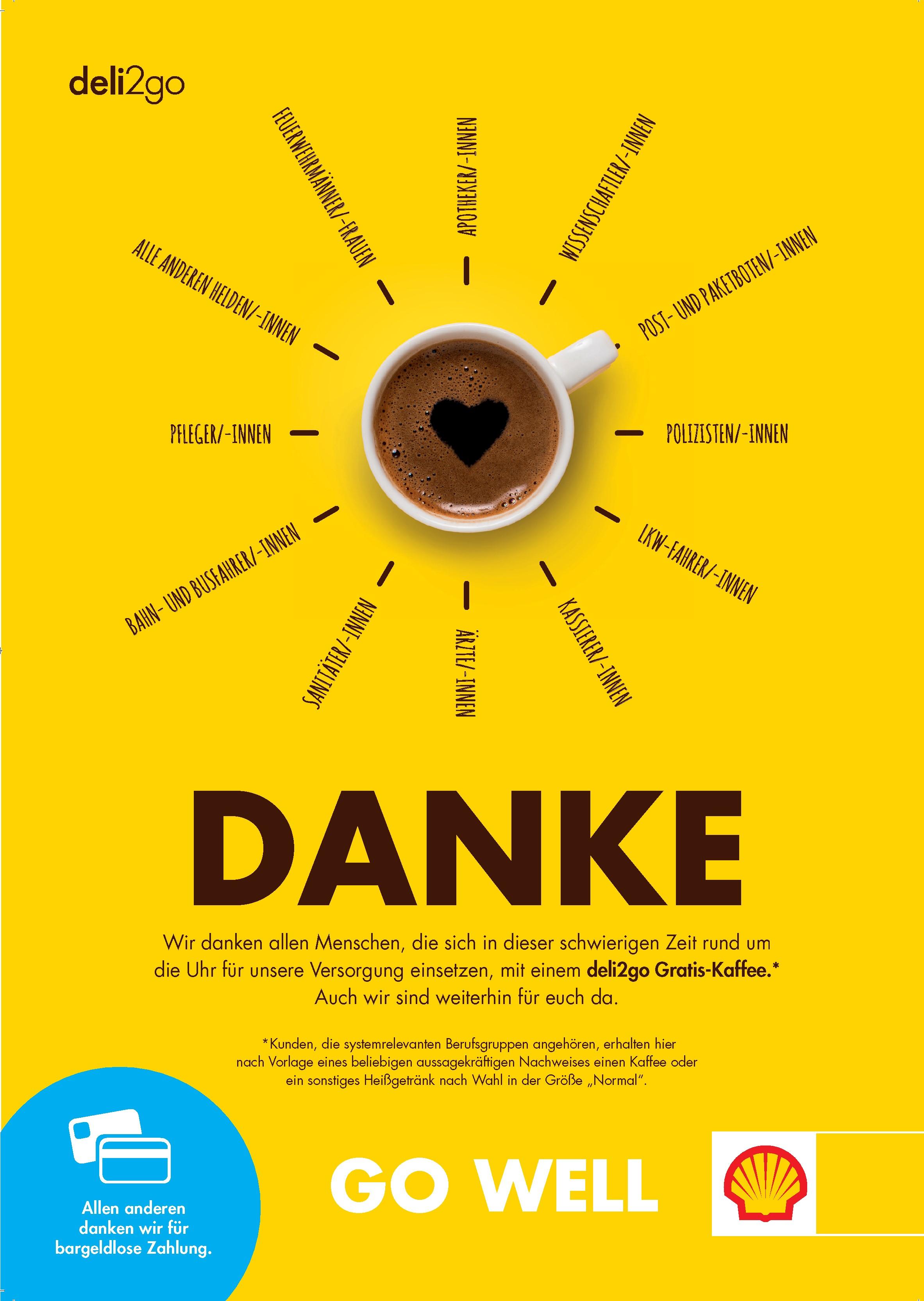 """Für alle Helden """"Gratiskaffee"""" bei teilnehmenden Shell Tankstellen"""