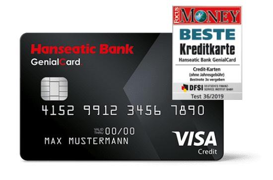 [Shoop] 20€ Cashback für die Hanseatic Bank GenialCard Visa Kreditkarte