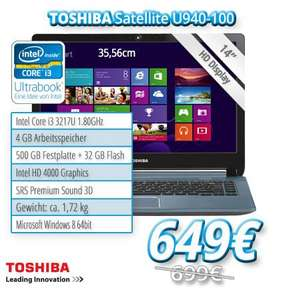 Toshiba Ultrabook Satellite U940-100