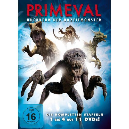 Primeval: Rückkehr der Urzeitmonster - Die kompletten Staffeln 1 bis 4 (11 DVDs) für 32,99 € @ Amazon.de