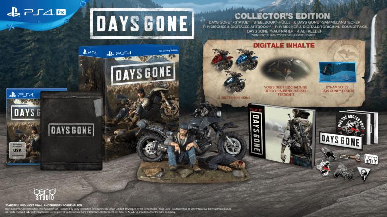 Days Gone - Collector's Edition (PS4) für 105,84 € inkl. Versand (Groovesland)