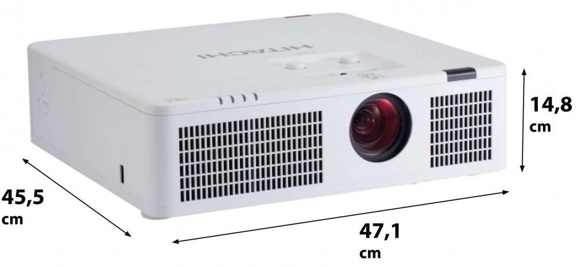 Business Beamer Hitachi LP-WX3500 (DLP, LED, 1280x800, 3500 Lumen, HDMI mit MHL, HDbaseT, VGA, Composite, Klinke, LAN, USB, 5J Garantie)