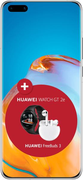 Huawei P40 Pro mit Vertag Maxxim (O2-Netz) inkl. Freebuds 3 und Smartwatch GT 2e