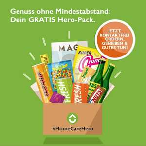 Gratis Box mit Snacks, Drinks und Goodies inklusive Versand