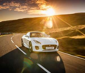 """Privatleasing: Jaguar F-Type Coupe P340 """"Chequered Flag"""" 3.0 / 340 PS inkl. Wartung für 499€ im Monat - LF: 0,53"""