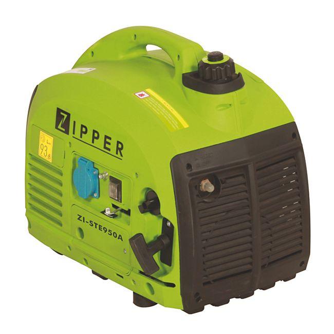 Zipper ZI-STE950A Stromerzeuger, 2PS, Dauerleistung 0,63 kW,Verbrauch 0,6 L/h,Laufzeit 4h bei voller Leistung,Tankinhalt 2,5l,Starter CDI