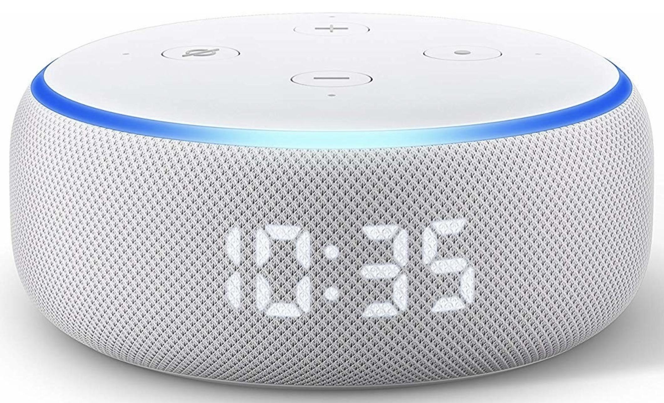 Amazon Echo Dot 3 mit Uhr für 39,99€ inkl. Versandkosten