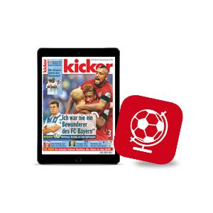 kicker ePaper Abo für 0,99€ pro Woche - monatlich kündbar