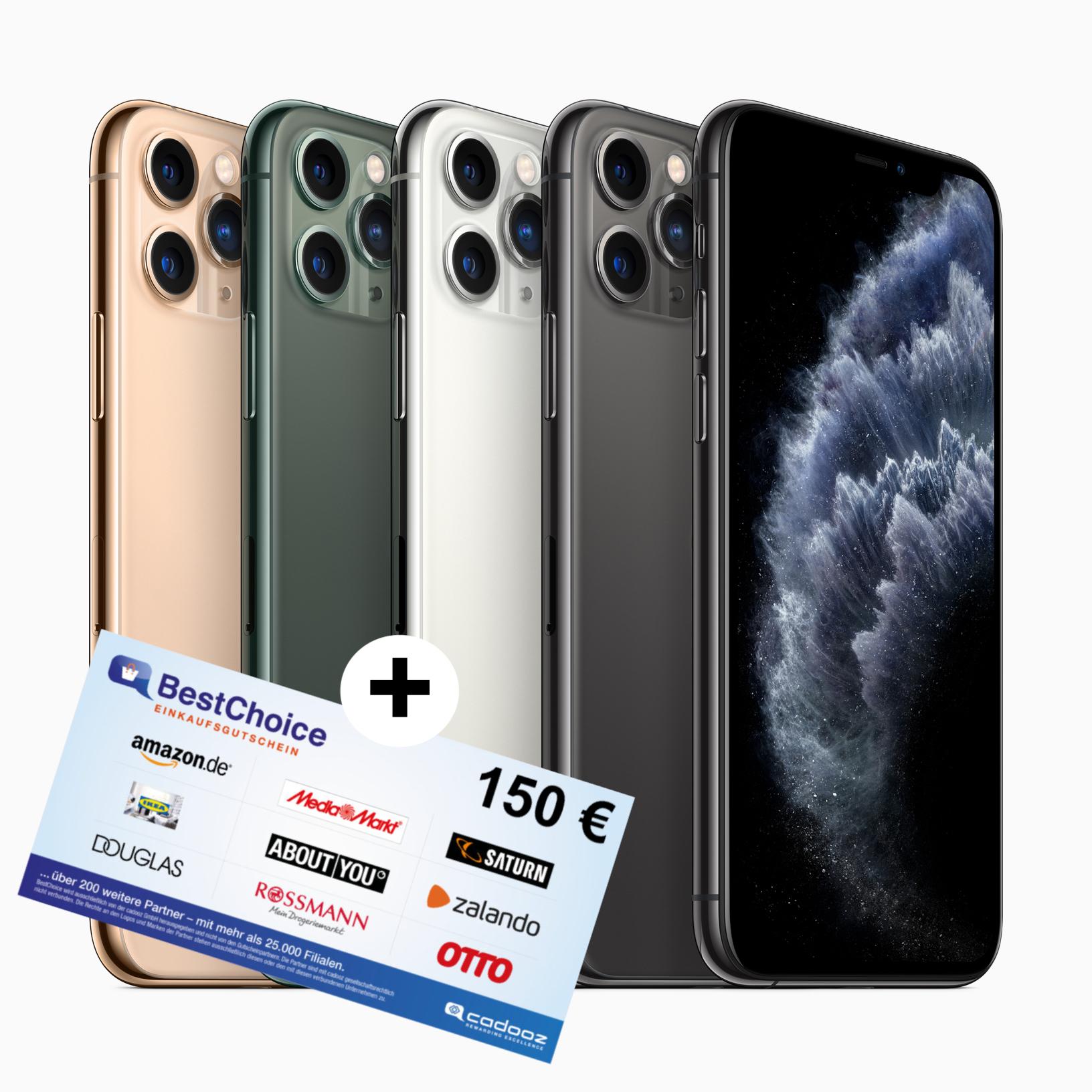 o2 Free Unlimited Max (225 Mbit/s) eff. mtl. 19,42€ nach HW-Verkauf: 150€ BestChoice Gutschein + iPhone 11 Pro für 49€ ZZ + mtl. 59,99€