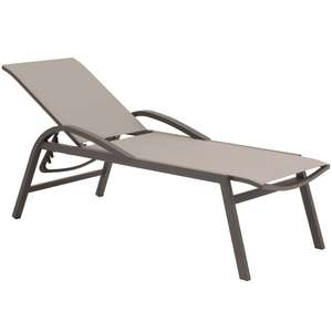 Siena Garden Milos Rollliege Aluminium/Ranotex® in Matt Anthrazit/Silber-Schwarz