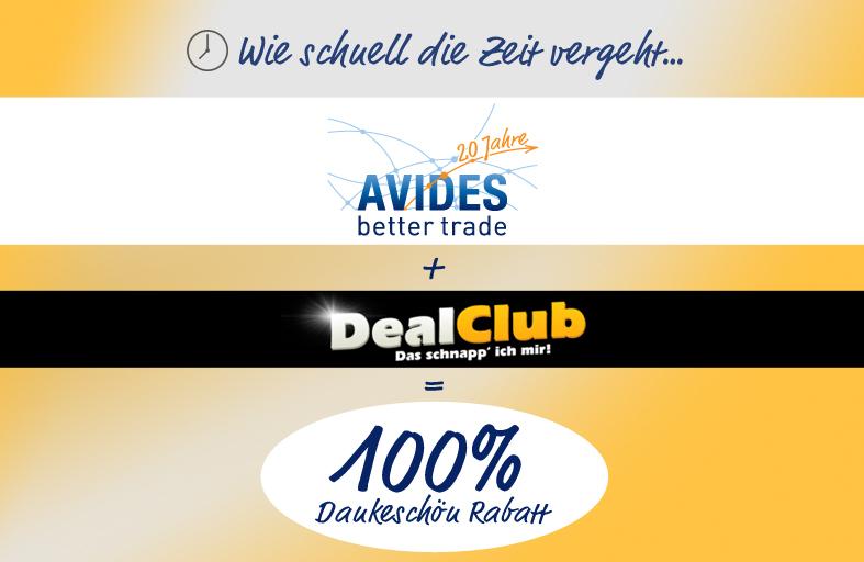 20 Jahre Avides mit Freebies im Dealclub: z.B. Hudora Softdart Dart-Pfeile Edelstahl, 3 Stück (bitte genau lesen!)