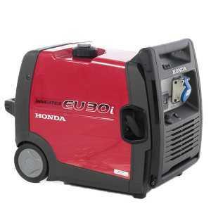 Honda EU 30i - 2600 Watt Dauerleistung, 4Takt, 230V SinusInverter, automatische Dekompression, Display, 12V Ladegerät für Batterien, leise!