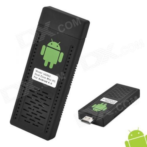 UG802 Android 4.1 Dual-Core Cortex A9 1GB DDR3 4GB ROM Mini PC w/ Wi-Fi / HDMI - Black