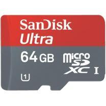 SanDisk microSDXC Ultra  Class 10 64GB inkl. SD-Adapter