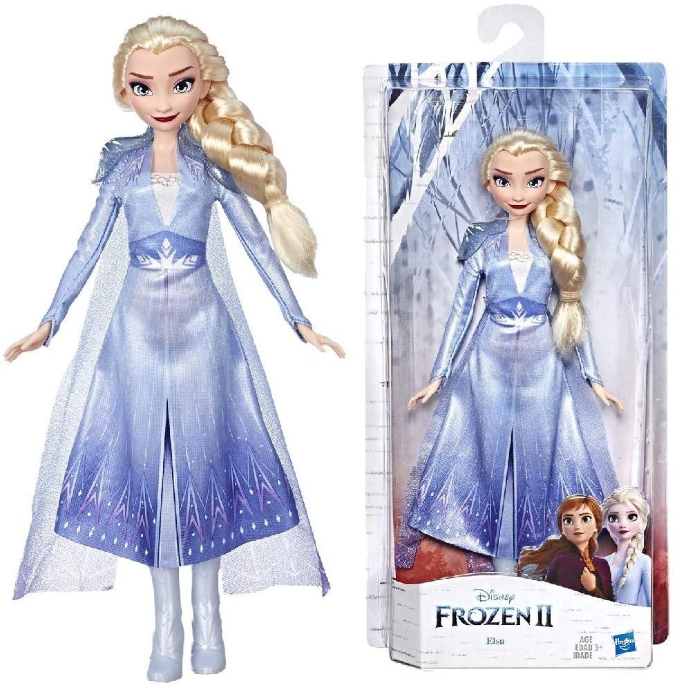 Hasbro Disney Die Eiskönigin II Elsa Puppe mit langem blondem Haar und blauem Outfit E6709ES0 [Amazon Prime]