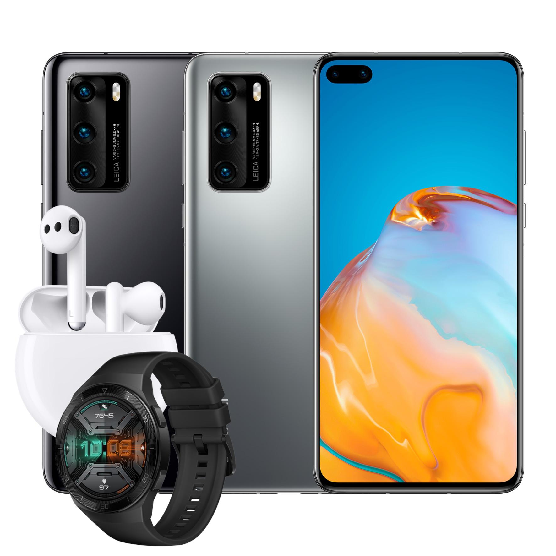 Huawei P40 + FreeBuds 3 + Watch GT 2E für 4,95€ Zuzahlung mit o2 Free M Boost (40GB LTE, o2-Connect, Allnet- & SMS-Flat) für mtl. 34,99€